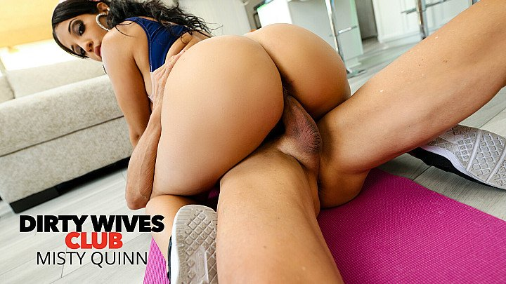 Misty Quinn's phat ass bounces on cock that's not her husband's