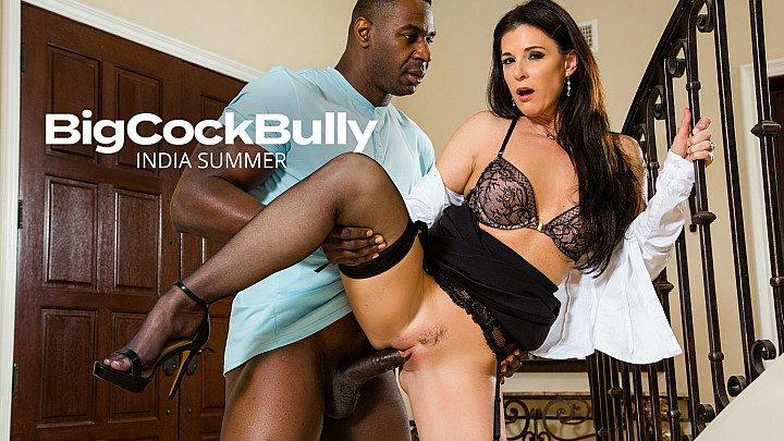 India Summer fucks a big black cock