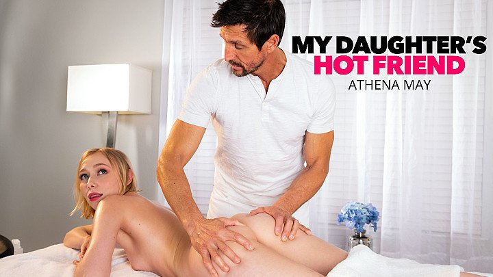Athena May gets happy ending massage from friend's dad